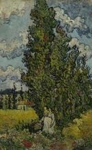 van Gogh, Cipressi e due donne | Cipressen en twee vrouwen | Cyprès et deux femmes | Cypresses and two women
