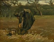 van Gogh, Contadina che scava patate | Aardappelrooister | Kartoffelgrabende Bäuerin | Peasant woman digging potatoes | Paysanne creusant des pommes de terre