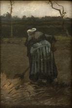 van Gogh, Contadina che vanga | Spittende boerin | Paysanne bêchant | Peasant woman digging