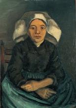 van Gogh, Contadina con la cuffia bianca, seduta | Paysanne assise à la coiffe blanche | Peasant women, seated, with white cap
