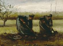 van Gogh, Contadine che raccolgono patate | Aardappelrooiende boerinnen | Paysannes déterrant pommes de terre | Peasant women digging up potatoes