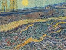 van Gogh, Contadino che ara in un campo | Laboureur dans un champ | Ploughman in a field