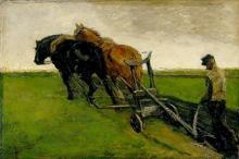 van Gogh, Contadino che ara | Ploeger | Laboureur | Ploughman