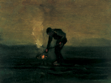 van Gogh, Contadino che brucia erbacce   Paysan brûlant mauvaises herbes   Peasant burning weeds
