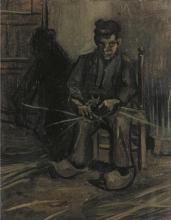 van Gogh, Contadino che fabbrica un cesto   Le vannier   Peasant making a basket