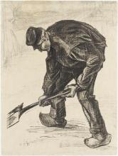 van Gogh, Contadino che vanga | Grabender Bauer | Paysan bêchant | Digging peasant
