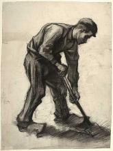 van Gogh, Contadino che vanga | Paysan bêchant | Peasant digging | Bonde med spade