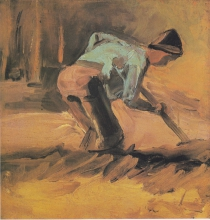 van Gogh, Contadino che vanga | Bauer beim Umgraben | Paysan creusant | Peasant digging