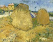 van Gogh, Covoni di grano in Provenza | Korenschelven in de Provence | Meules de blé en Provence | Stacks of wheat in Provence