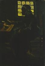 van Gogh, Donna a tavola   Vrouw aan tafel   Femme à la table   Woman at table