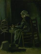 van Gogh, Donna che avvolge il filo   Garenspoelende vrouw   Femme enroulant du fil   Woman winding yarn