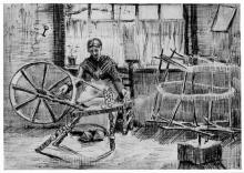 van Gogh, Donna che avvolge il filo | Garenspoelende vrouw | Femme enroulant du fil | Woman winding yarn