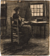 van Gogh, Donna che cuce | Naaiende vrouw | Femme cousant | Woman sewing