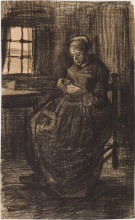 van Gogh, Donna che cuce   Naaiende vrouw   Femme cousant   Woman sewing