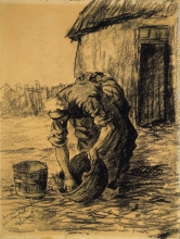 van Gogh, Donna che pulisce un calderone   Femme nettoyant un chaudron   Woman cleaning a cauldron