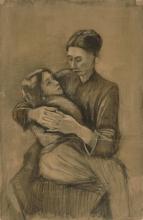 van Gogh, Donna con un bambino in grembo   Vrouw met kind op schoot   Femme avec un enfant sur les genoux   Woman with a child on her lap