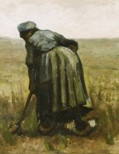 van Gogh, Donna con una vanga, vista di spalle | Femme avec une bêche, vue de dos | Woman with a spade, seen from the back