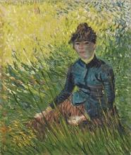 van Gogh, Donna in un campo di grano   Femme dans un champ de blé   Woman in a wheat field