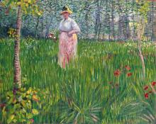 van Gogh, Donna in un giardino.png