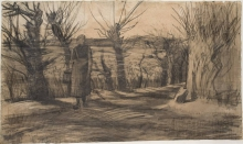 van Gogh, Donna su una strada di campagna | Vrouw op een landweg | Woman on a country road