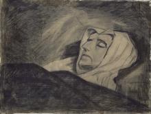 van Gogh, Donna sul suo letto di morte | Vrouw op haar doodsbed | Femme sur son lit de mort | Woman on her death bed