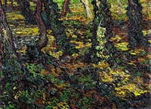van Gogh, Edera sotto gli alberi | Klimop onder geboomte | Lierre sous les arbres | Ivy under trees