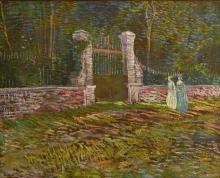 van Gogh, Entrata del parco Voyer-d'Argenson ad Asnières | Entrée du parc Voyer-d'Argenson à Asnières | Entrance to Voyer-d'Argenson Park at Asnières