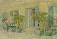 van Gogh, Esterno di un ristorante ad Asnières | Voor een restaurant te Asnières | Extérieur d'un restaurant à Asnières | Exterior of a Restaurant in Asnières