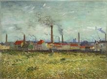 van Gogh, Fabbriche a Clichy | Usines a Clichy | Factories at Clichy