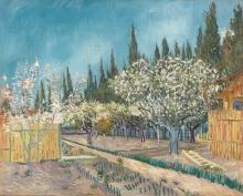 van Gogh, Frutteto fiancheggiato da cipressi | Verger bordé de cyprès | Orchard bordered by cypresses