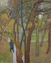 van Gogh, Giardino del manicomio Saint Paul ('La caduta delle foglie')   Tuin van de inrichting Saint-Paul ('Het vallen van de bladeren')   The garden of Saint Paul's hospital ('The falling of leaves')