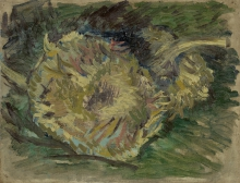 van Gogh, Girasoli appassiti | Uitgebloeide zonnebloemen | Tournesols fanés | Sunflowers gone to seed