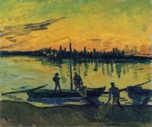 van Gogh, Gli scaricatori ad Arles | Les déchargeurs à Arles | Los descargadores en Arlés | The unloaders in Arles