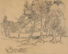van Gogh, Gruppo di pini | Groupe de pins | Group of pines