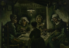 van Gogh, I mangiatori di patate | De aardappeleters | Les mangeurs de pommes de terre | The potato eaters