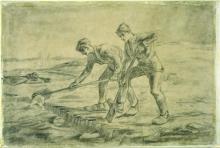 van Gogh, I vangatori (da Millet) | Les bêcheurs (d'après Millet) | The diggers (after Millet)