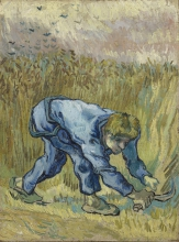 van Gogh, Il falciatore (da Millet) | De maaier (naar Millet) | Le faucher (d'après Millet) | The reaper (after Millet)