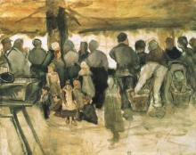 van Gogh, Il mercato delle patate | Le marché de pommes de terre | The potato market