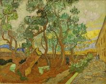 Vincent van Gogh, Il parco dell'ospedale a Saint Rémy | Le parc de l'hôpital, à Saint-Rémy | Der Garten des Hospitals von Saint-Rémy | The hospital park, in Saint-Rémy