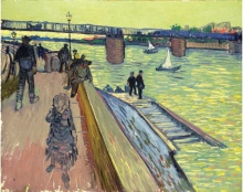 van Gogh, Il ponte di Trinquetaille | Le pont de Trinquetaille | The Trinquetaille bridge