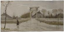 van Gogh, Il ponte levatoio a Nieuw Amsterdam | De ophaalbrug in Nieuw-Amsterdam | Le pont-levis à Nieuw Amsterdam | The drawbridge at Nieuw-Amsterdam