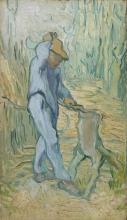 van Gogh, Il taglialegna (da Millet) | De houthakker (naar Millet) | Le bûcheron (d'après Millet) | The woodcutter (after Millet) |