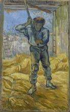 van Gogh, Il trebbiatore (da Millet) | De dorser (naar Millet) | Le batteur (d'après Millet) | Tresher (after Millet)