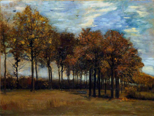 van Gogh, Il viale in autunno | L'allée en automne | The alley of trees in autumn