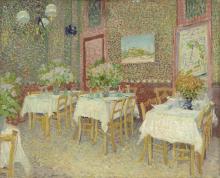 van Gogh, Interno di un ristorante | Interieur van een restaurant | Intérieur d'un restaurant | Interior of a restaurant