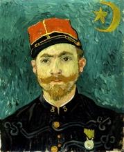 van Gogh, L'amante (ritratto del tenente Milliet) | De minnaar (portret van luitenant Milliet) | L'amant (portrait du lieutenant Milliet) | The lover (portrait of Lieutenant Milliet)
