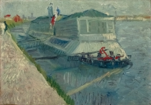 van Gogh, La barca-lavatoio sulla Senna ad Asnières | Le bateau lavoir sur la Seine à Asnières | The laundry boat on the Seine at Asnières