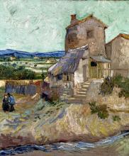 van Gogh, La casa di La Crau   La maison de La Crau   The old mill