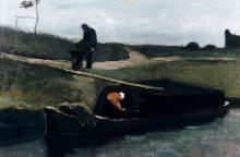 van Gogh, La chiatta di torba | De Turfschuit | La péniche de tourbe | Peat barge