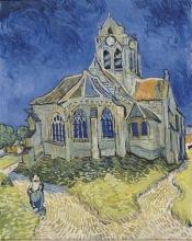 van Gogh, La chiesa di Auvers sur Oise, veduta dalla parte absidale | L'église d'Auvers-sur-Oise, vue du chevet | The church of Auvers-sur-Oise, view from the chevet